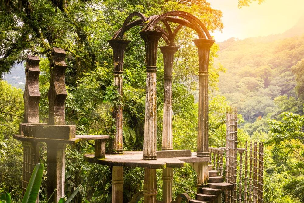 Estructuras del jardin botanico surrealista de Edward James en Xilitla