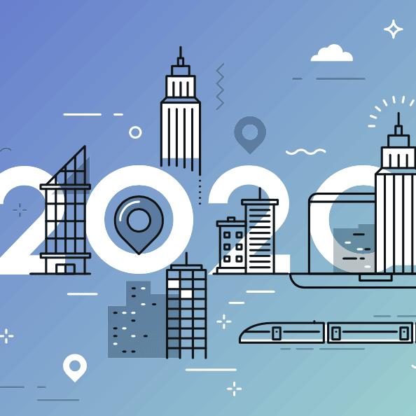 Ilustracion de tendencias de transporte y movilidad en 2020