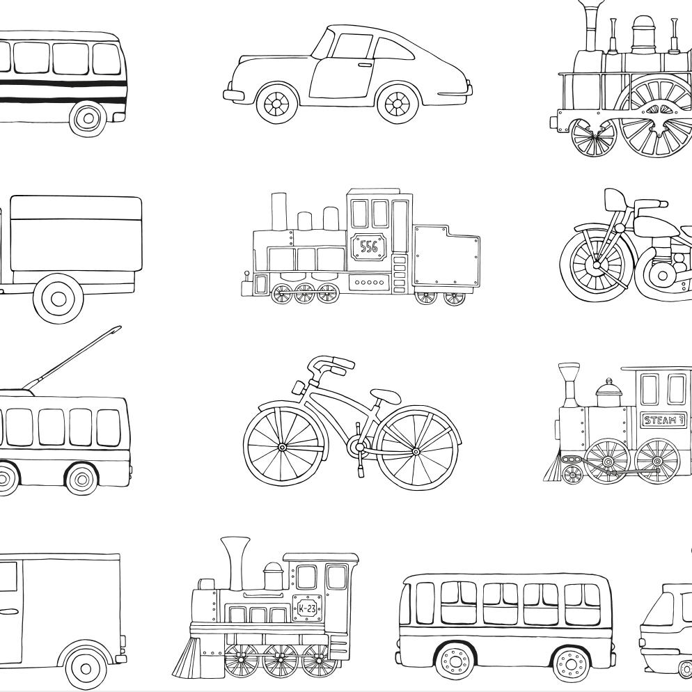 Boceto de la evolucion de los medios de transporte publicos