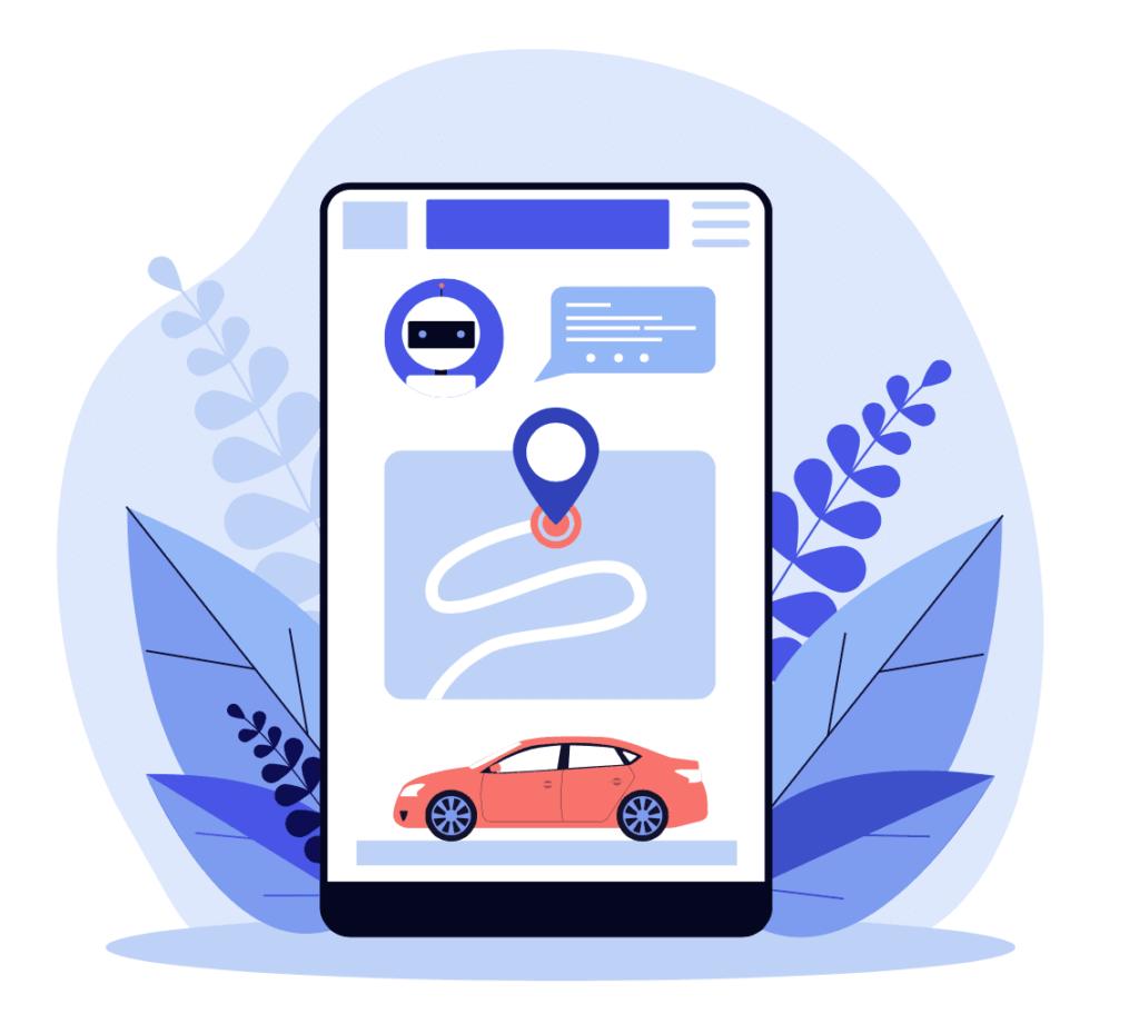 Concepto de una aplicacion tipo MaaS que recomienda el mejor medio de transporte a un destino