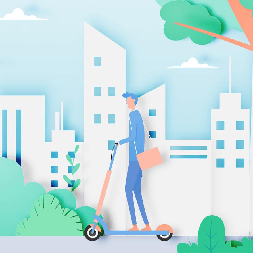 El patín eléctrico y el transporte urbano verde