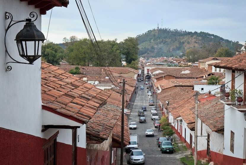 Vista de Patzcuaro en Michoacan, uno de los pueblos magicos de Mexico
