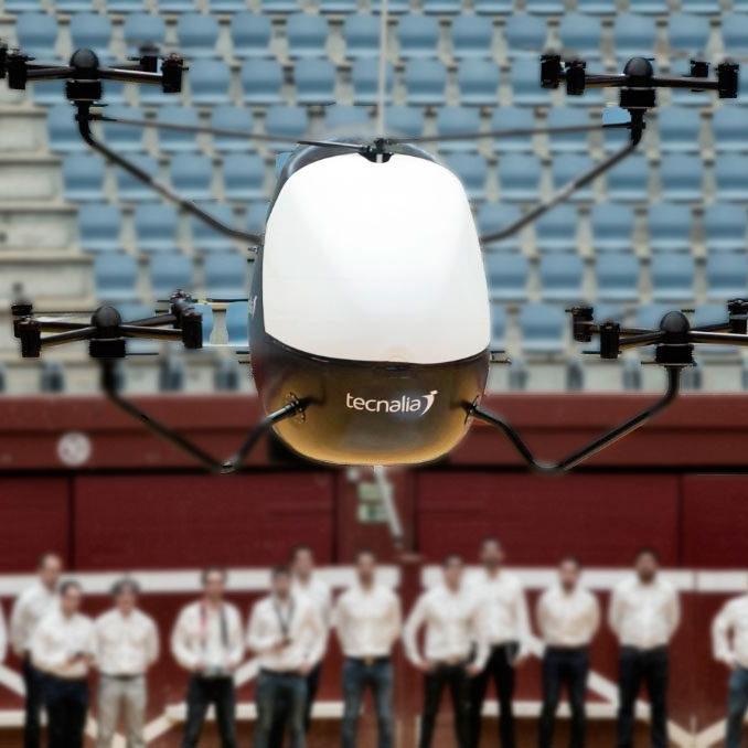 tecnalia presenta su primer automovil volador